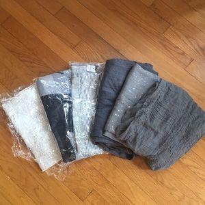 Set of 6 scarfs